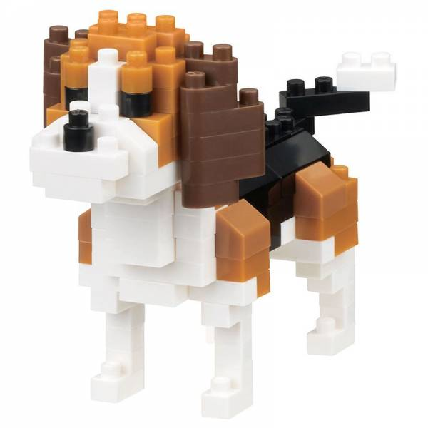 Mini NANOBLOCK Dog breed beagle
