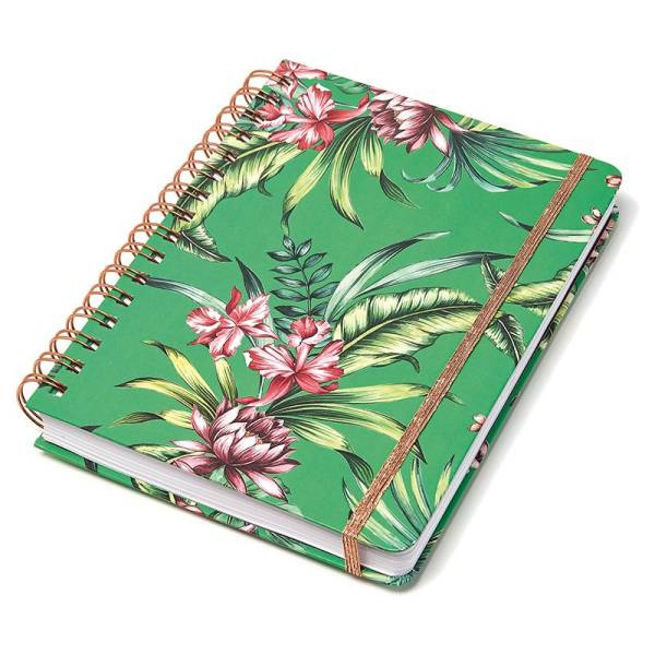Ringbuch Hardcover TROPICAL green