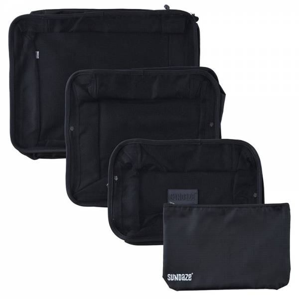 TRAVEL ORGANIZE SET 4pcs black