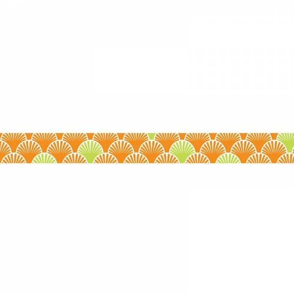 Masking tape MASTÉ MULTI Orange Seigaiha 15 mm