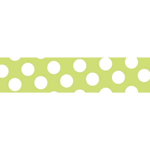 Masking tape MASTÉ BASIC Neon Light Green/Dot, 15 mm