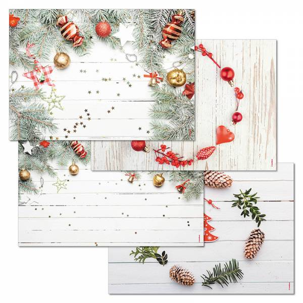 Papiertischset COZY CHRISTMAS 4 Sujets à 12 Blatt