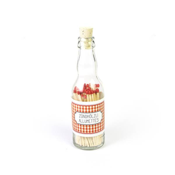 Zündhölzer in Glasflasche ZÜNDHÖLZLI