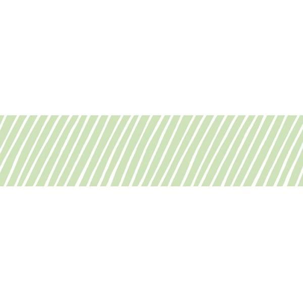 MASTÉ DRAW ME Stripe Green 10 m / 15 mm