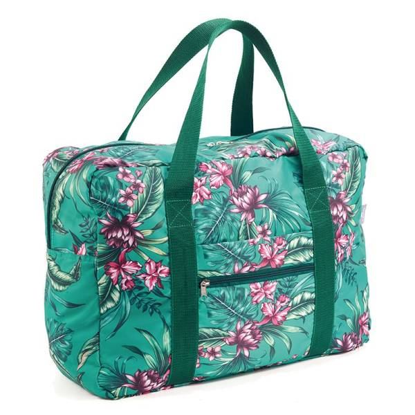 Travel Bag TROPICAL green