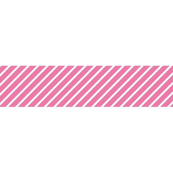 Masking tape MASTÉ BASIC Neon Pink/Stripe 15 mm