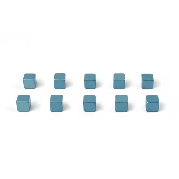 Magnete KUBIQ 10er Set blau