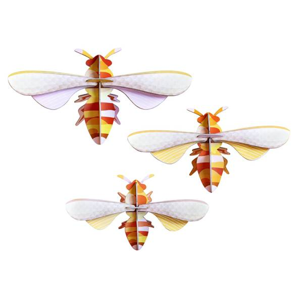 HONEY BEES, SET OF 3