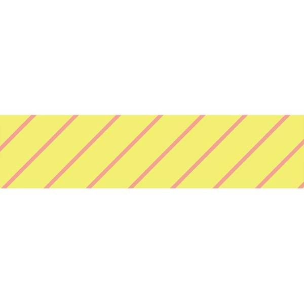 Masking tape MASTÉ BASIC Neon Light Yellow/Stripe, 15 mm