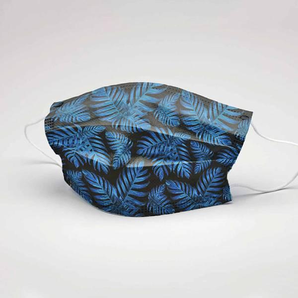Schutzmaske PHILODENDRON blue