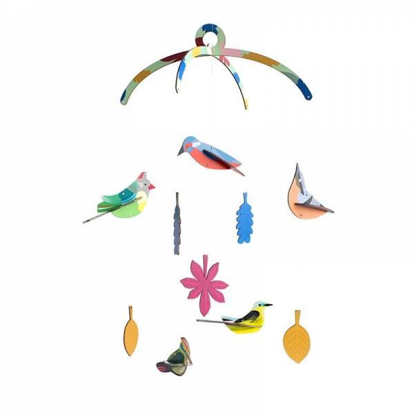 MOBILE GARDEN BIRDS
