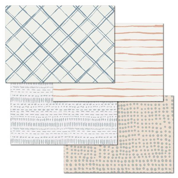 Papiertischset ELEMENTARY 4 Sujets à 12 Blatt