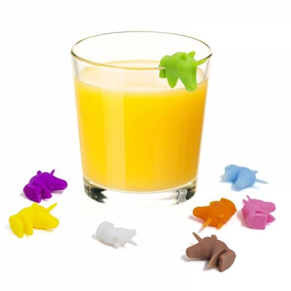 Trinkglasmarkierer UNICORN 8er assortiert