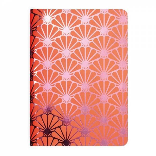 Heft A6 Metallic SHELL pink, kariert
