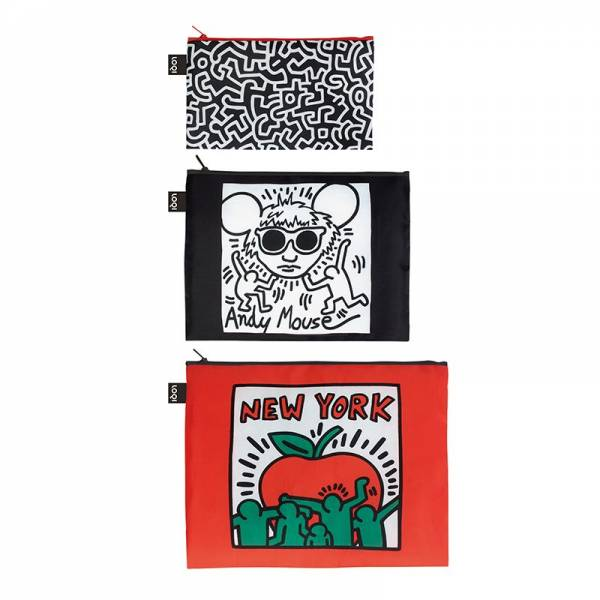 Zip-Beutel KEITH HARING 3er Set