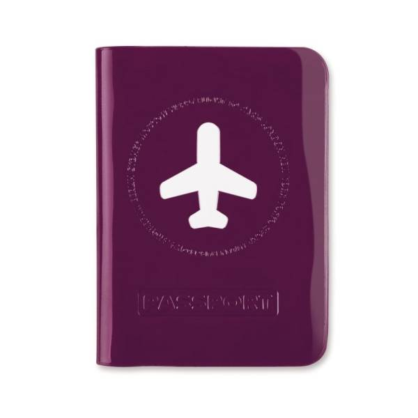 HAPPY FLIGHT PASSPORT COVER violett