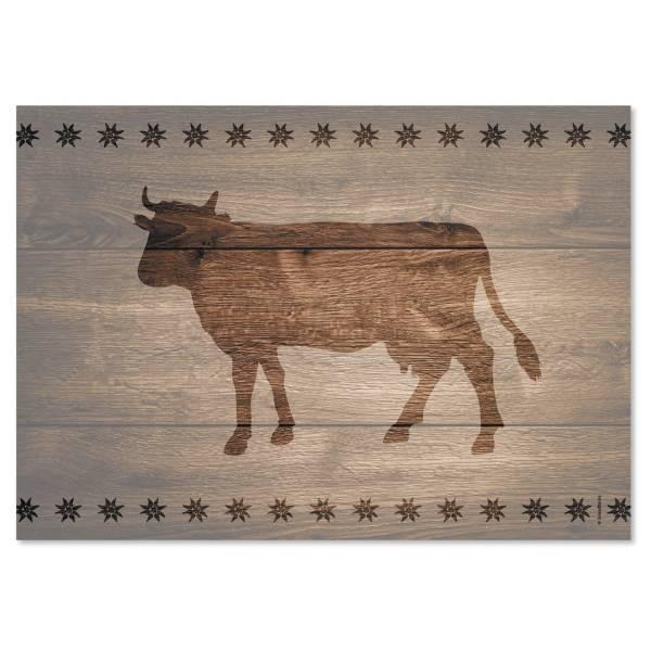 Papiertischset COW braun Block mit 50 Blatt