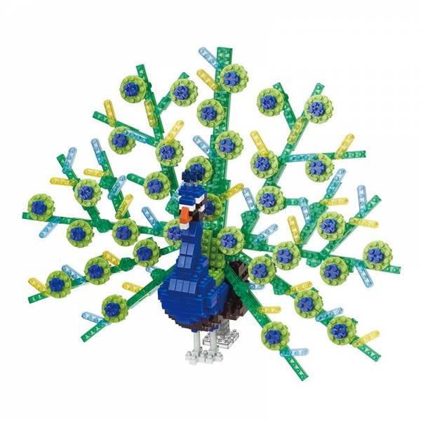 Animal Deluxe NANOBLOCK Peacock