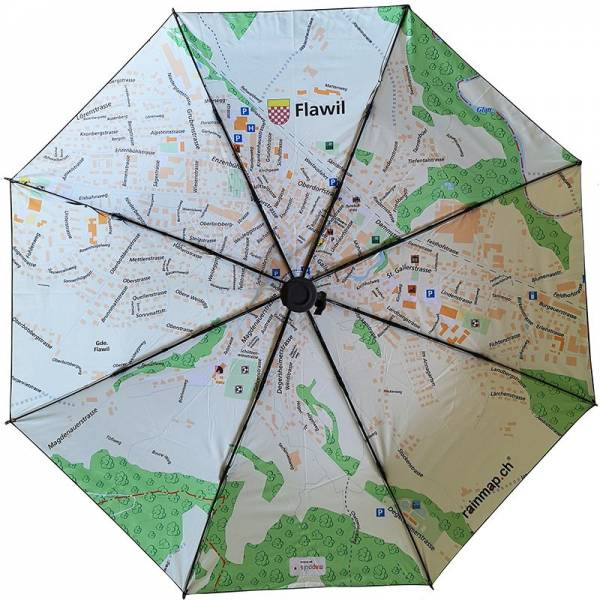 Regenschirm RAINMAP FLAWIL