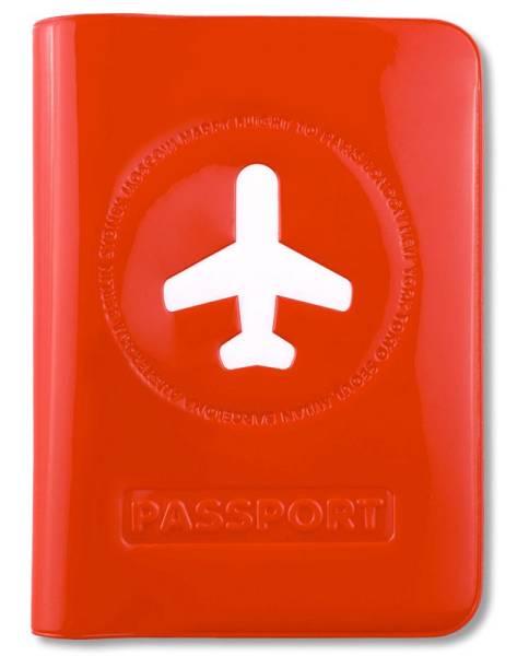 HAPPY FLIGHT PASSPORT COVER rot