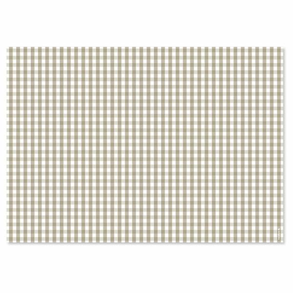 Papiertischset VICHY beige Block mit 50 Blatt