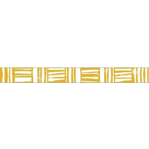 Masking tape MASTÉ BASIC Mustard-Brush border