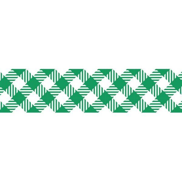 Masking tape MASTÉ BASIC Green/Check 15 mm