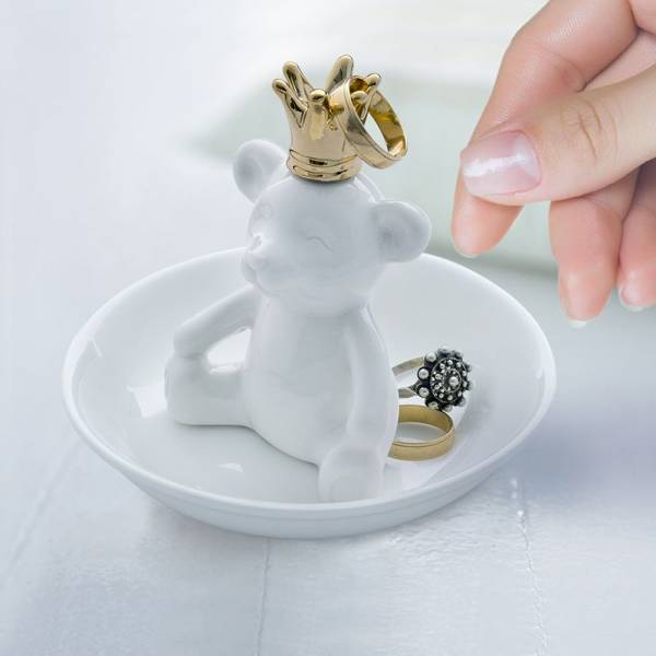 Ringhalter THE KING weiss aus Keramik
