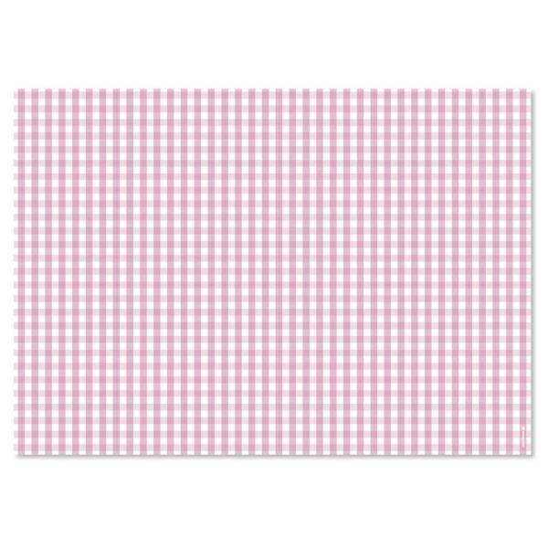 Papiertischset VICHY pink Block mit 50 Blatt