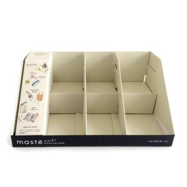 Masking tape MASTÉ TRAY DISPLAY 4ER leer, mit Platz für 24 4er-Set