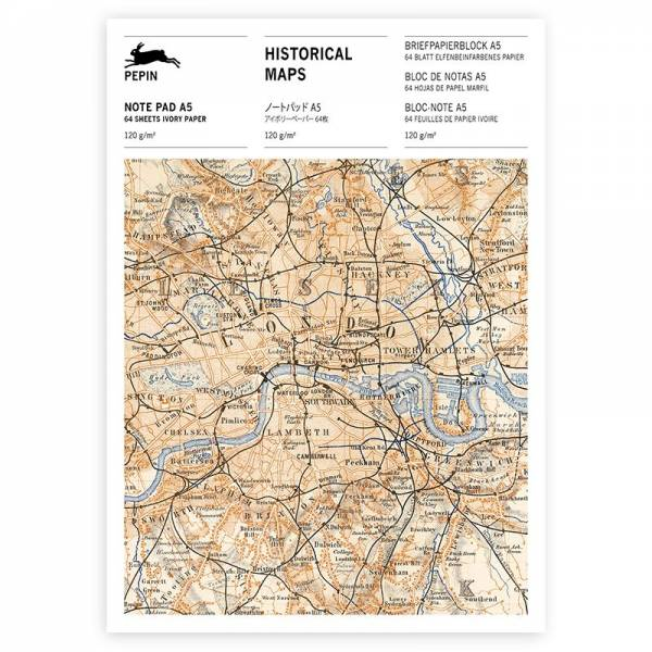 A5 Note Pad HISTORICAL MAPS