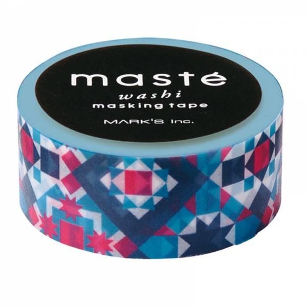 Masking tape MASTÉ MULTI Bohemian Turquoise, 15 mm