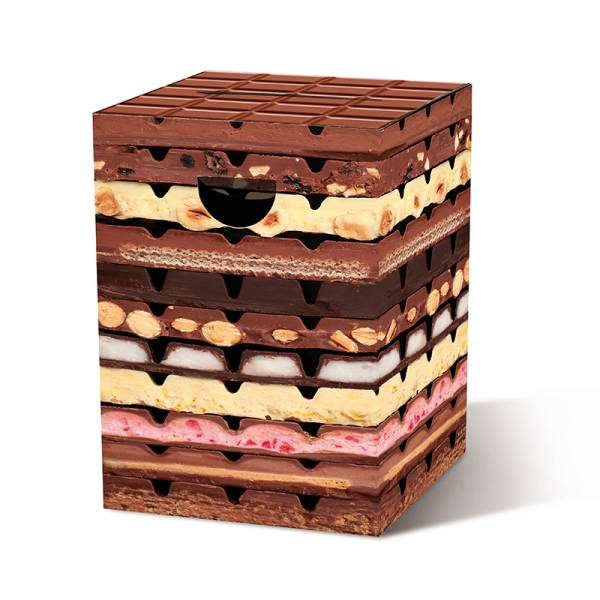 Papphocker Schokolade