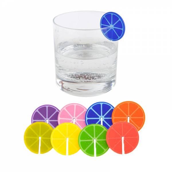Trinkglasmarkierer FRUIT PARTY 8er assortiert
