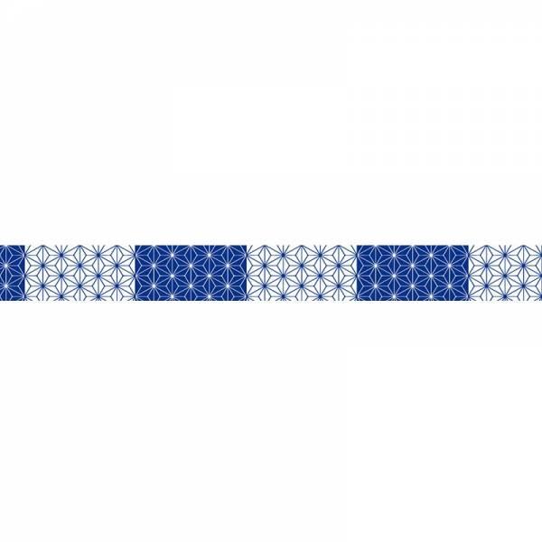 Masking tape MASTÉ MULTI Dark blue Asanoha 15 mm
