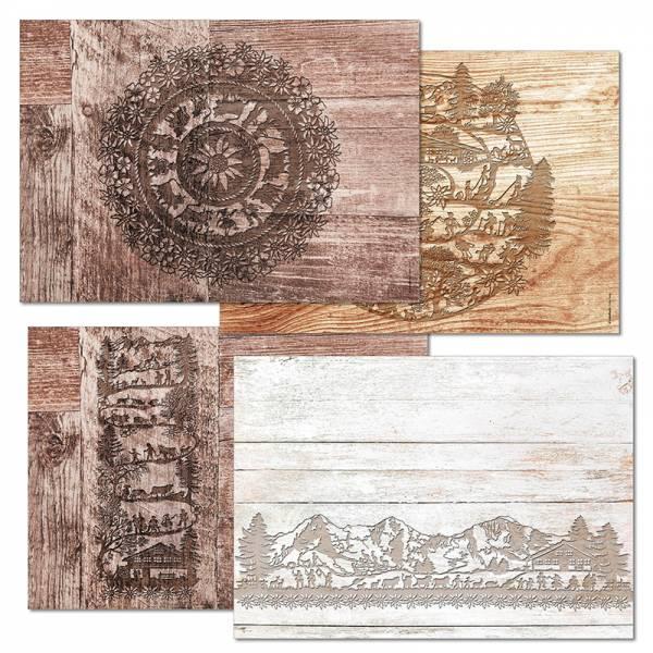 Papiertischset SWISS TRADITION 4 Mehrfachblock - 4 Sujets à 12 Blatt