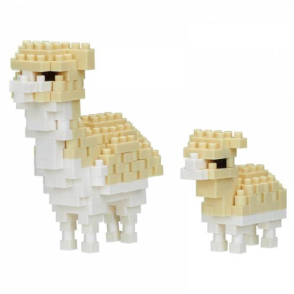 Mini NANOBLOCK Alpaca and Baby