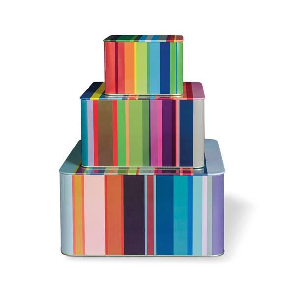 Blechdosenset 3er Set Stripes