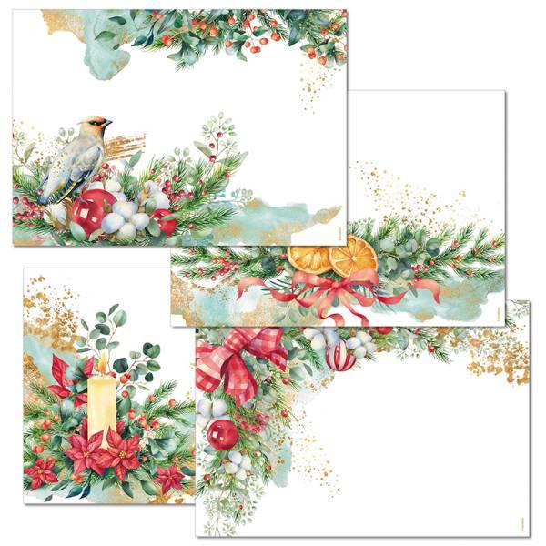 Papiertischset WINTER HAPPINESS Mehrfachblock - 4 Sujets à 12 Blatt