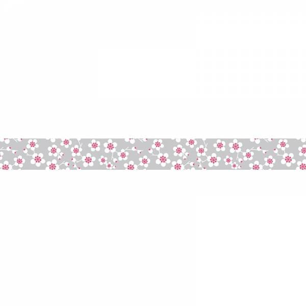 Masking tape MASTÉ MULTI Grey Plum flower 15 mm