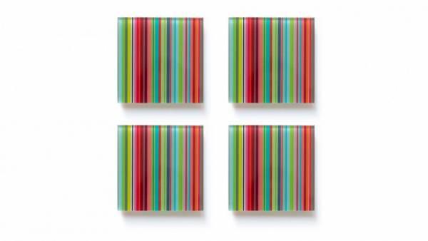 Glasuntersetzer 4er Set Stripes