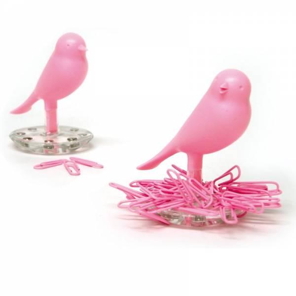Büroklammerndepot NEST SPARROW pink