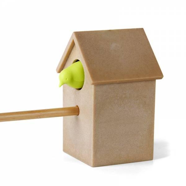Spitzer CUCKOO grün mit braunem Häuschen