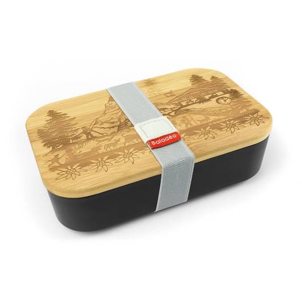 Lunchbox SWISS TRADITION schwarz