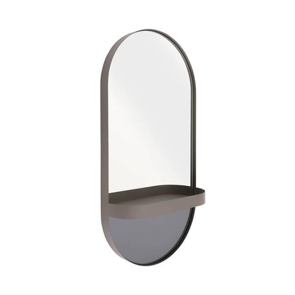 Wandspiegel mit Ablage taupe/grau