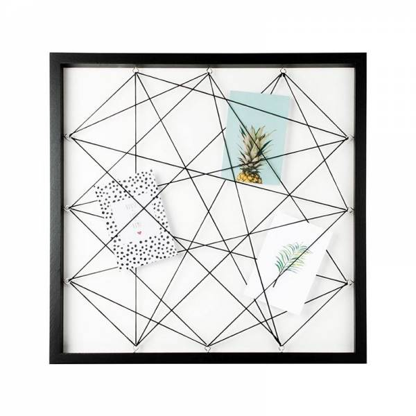PHOTO BOARD w/elastics 50x50cm black