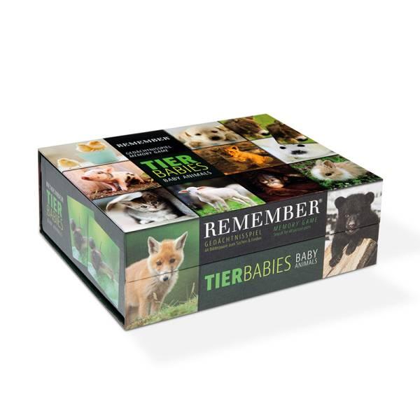 Gedächtnisspiel 44 Tierbabies in der Magnetbox