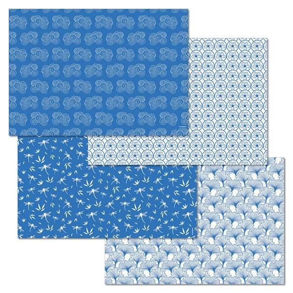 Papiertischset NIPPON Mehrfachblock - 4 Sujets à 12 Blatt