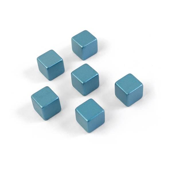 Superstrong Magnets CUBE MEDIUM 6er Set, blau