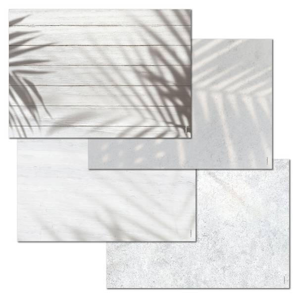 Papiertischset LIGHT & SHADOWS 4 Sujets à 12 Blatt